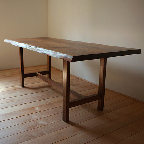 a-stud slab table (walnut)