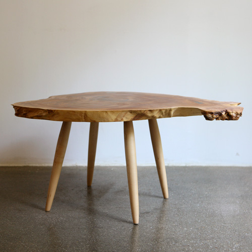 zelkova woodslab low table