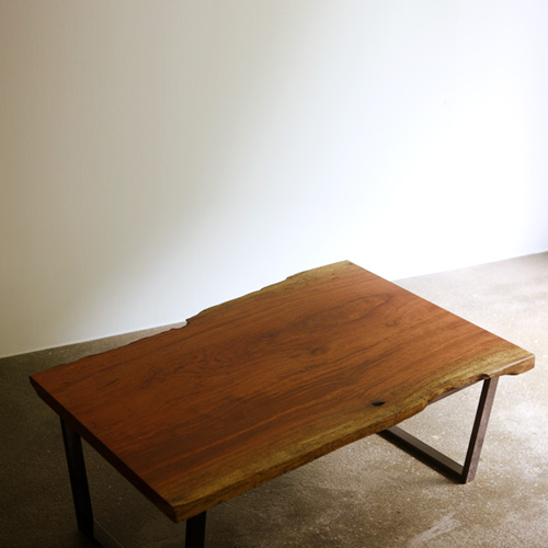 bubinga woodslab coffee table