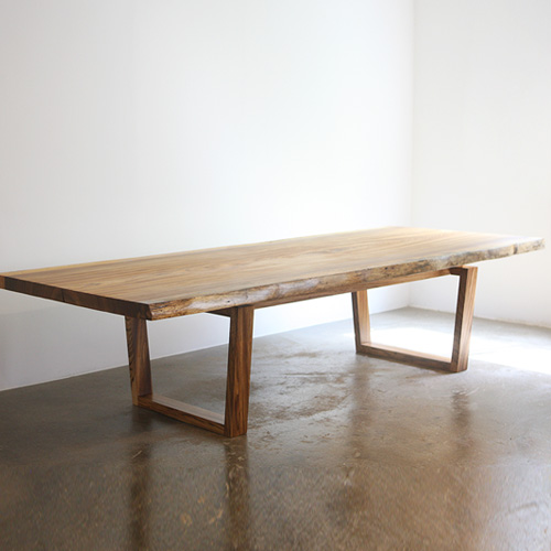 MJ zebra woodslab table