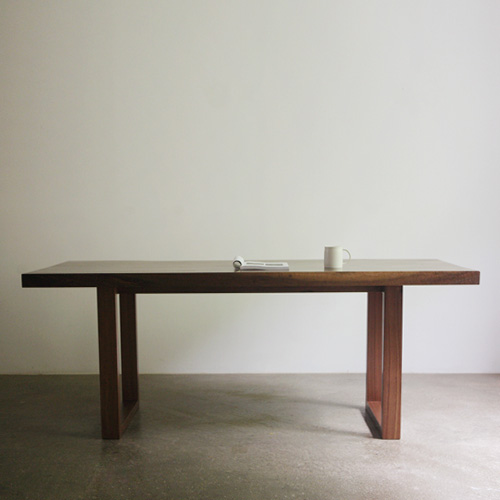 walnut wood slab table