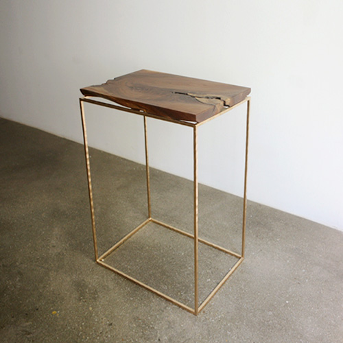 vintage frame forged side table