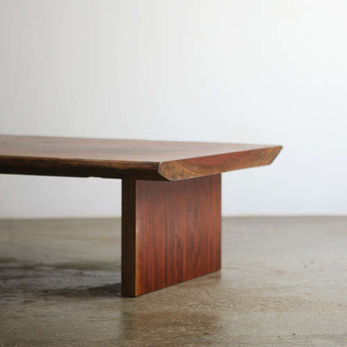 Bubinga wood slab table