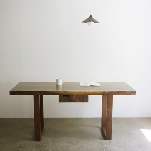 mannish wood slab table