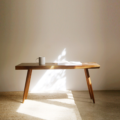 natural slabtop coffee table
