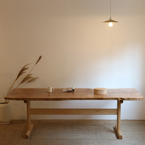 entry maple slab-table